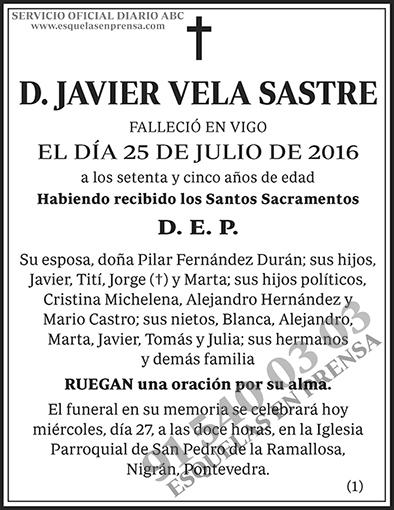 Javier Vela Sastre